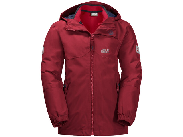 huge discount db0a2 0a992 Jack Wolfskin B Iceland Giacca 3in1 Bambino, dark lacquer red